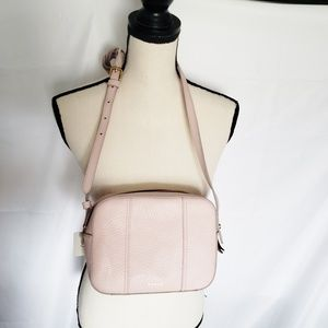 NEW Fossil blush pink leather crossbody purse